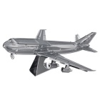 3D Metal Puzzle Boeing 747 Model Toy - Silver