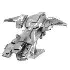 3D Creative DIY Metal Puzzle Pelican Model Toy - Silver