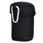 JJC JN-L Digital Camera Lens Neoprene Storage Bag w/ Carabiner - Black