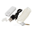 Bluetooth Smart Headset w/ Vacuum Spiral Cable In-Ear Earphone - White