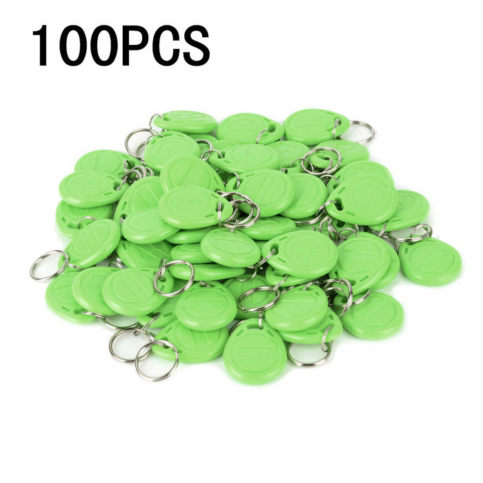 Entrance Guard Inductive ID Key Cards w/ Keyring - Green  (100 PCS)Other Security Products<br>Form  ColorGreenMaterialABSQuantity100 DX.PCM.Model.AttributeModel.UnitRemote Control Range0 DX.PCM.Model.AttributeModel.UnitVoice DecibelsNOBattery included or notNoBattery Number0Power AdaptornoPower AdapterWithout Power AdapterPacking List100 * Entrance guard keys<br>