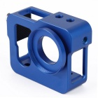 Blue Metal CNC Aluminium Protective Case Shell for GoPro Hero 4 / 3+