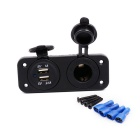 Female Console Modified Car 2.1A Dual USB Mobile Phone Charger