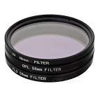 CPL + FLD Fluorescent + UV Polarizer Filters + Lens Cover + 58mm Hood
