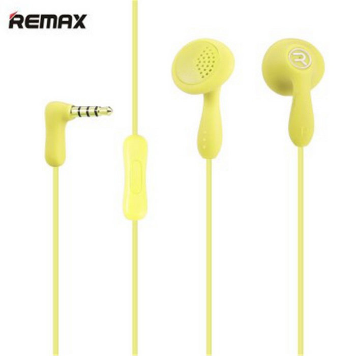 REMAX 301 In-Ear Music con el micrófono del color del caramelo - Amarillo