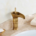 Winebowl Style Antique Brass Bathroom Sink Faucet - Bronze (Short)