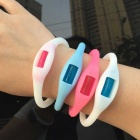 Buzz Band Mosquito Repellent Bracelet - Blue + White