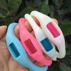 Buzz Band Mosquito Repellent Bracelet - White + Pink