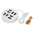 BSTUO 8 Port USB 2.0 Hub with 48cm Cable - White