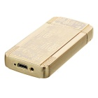 MAIKOU Stainless Steel Dual Arch USB Rechargeable Lighter - Gold