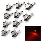 12V Auto Toggle Switch Iluminado Rocker Switch Red LED Rocker