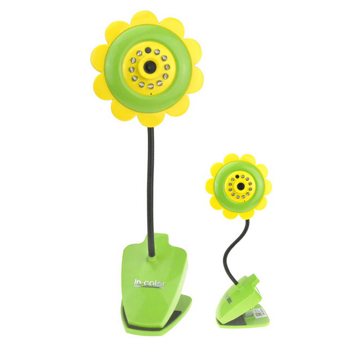 Sunflower Style IP Camera 720P Home Protection Wi-Fi Camera - Yellow