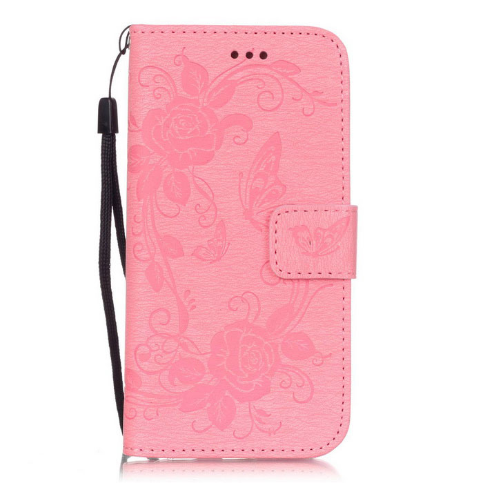 BLCR Butterfly Pattern PU + TPU Wallet Case for IPHONE 6/6S - PinkLeather Cases<br>Form ColorPinkQuantity1 DX.PCM.Model.AttributeModel.UnitMaterialPU + TPUCompatible ModelsIPHONE 6S,IPHONE 6StyleFlip OpenDesignSolid Color,Graphic,With Stand,Card Slot,With StrapAuto Wake-up / SleepNoPacking List1 * Case1 * Strap(17cm)<br>