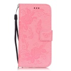 BLCR Butterfly Pattern PU + TPU Wallet Case for IPHONE 6/6S - Pink