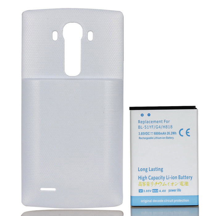 Replacement 6800mAh Li-ion Battery Fondello + per LG G4 + More