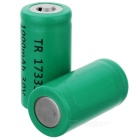 LC 17335 3V 1000mAh CR123A Battery - Green (2PCS)