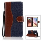 Denim + PU Leather Case Cover for Samsung Galaxy Note 7 - Deep Blue