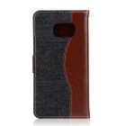 Denim + PU Leather Case for Samsung Galaxy Note 7 - Black + Brown