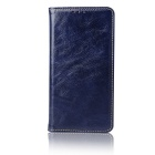 Flip Open Cow Split Leather Case for Samsung Galaxy Note 7 - Deep Blue