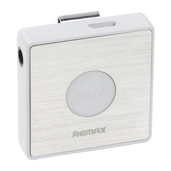 Remax S3 Sports Lavalier clipe Clip-on Bluetooth Headset - Branco