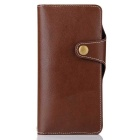 Cow Split Leather Case w/ Card Slots, Stand for Samsung Galaxy Note 7