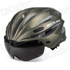 GUB K80 PLUS Integrated Magnetic Riding Helmet Goggles -Titanium (L)