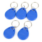 Entrance Guard Inductive ID Key Cards w/ Keyring - Blue (100PCS)