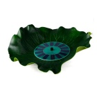 Outdoor Solar Lotus Leaf Floating Fountain - vihreä ja musta