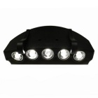 Cap Clip-on 5-LED 2-Mode Light for Indoor or Outdoor Using - Black