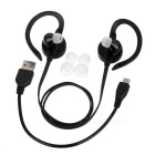 YUEER Bluetooth 4.1 Wireless Sports Earhook Headset - Black + Red