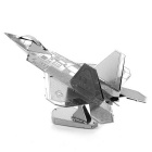 DIY 3D Puzzle Ensemble Combat Aircraft Model Educational Toy - Argent