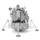 DIY 3D Puzzle Stainless Steel Assembled Lunar Model Toy - Silver