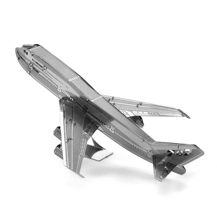 DIY 3D Puzzle Assembled Boeing Aircraft Model Toy - Silver