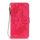 BLCR Butterfly Pattern Protective Case for Huawei P9 Lite - Deep Pink
