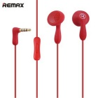 REMAX 301 In-Ear Music Earphones with Microphone Candy Color - Red