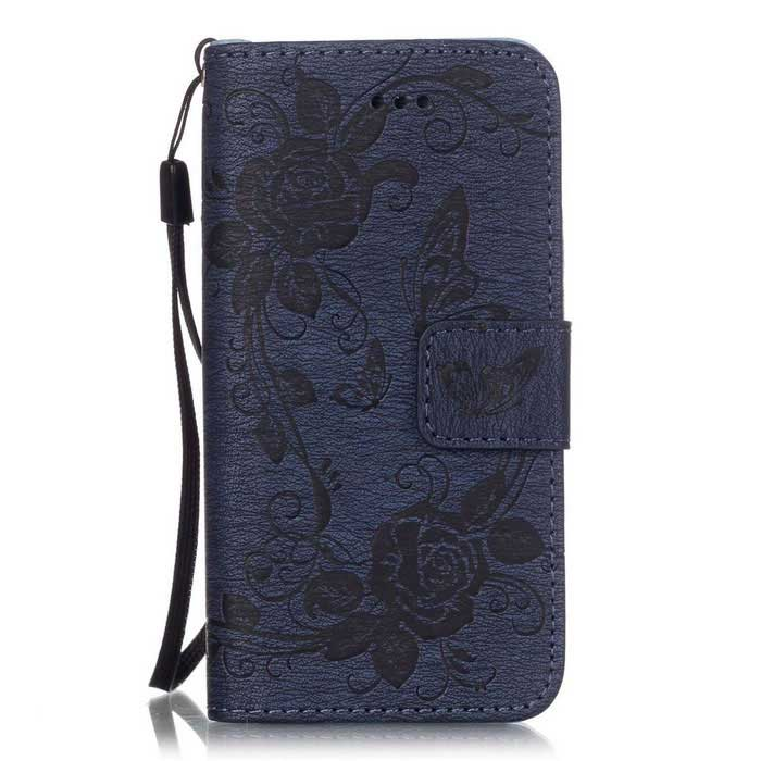 BLCR Butterfly Pattern Wallet Case for IPHONE SE/ 5S / 5 - Deep BlueLeather Cases<br>Form  ColorDeep BlueQuantity1 DX.PCM.Model.AttributeModel.UnitMaterialPU + TPUCompatible ModelsIPHONE 5S,IPHONE 5,Others,IPHONE SEStyleFlip OpenDesignSolid Color,Graphic,With Stand,Card Slot,With StrapAuto Wake-up / SleepNoPacking List1 * Case1 * Strap<br>