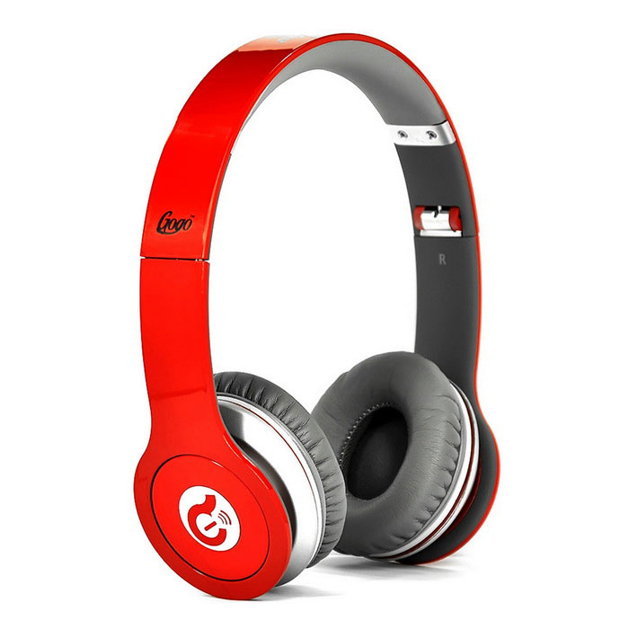 Syllable G05-003 Folding Stereo Headphone - White + Red