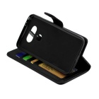 Flip Open PU Leather Case w/ Stand / Card Slots for LG G5 - Black