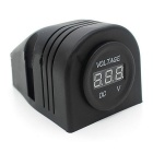 Cs-285A1 12 ~ 24V Car Tent Modified DC LED Digital Voltmeter-Noir