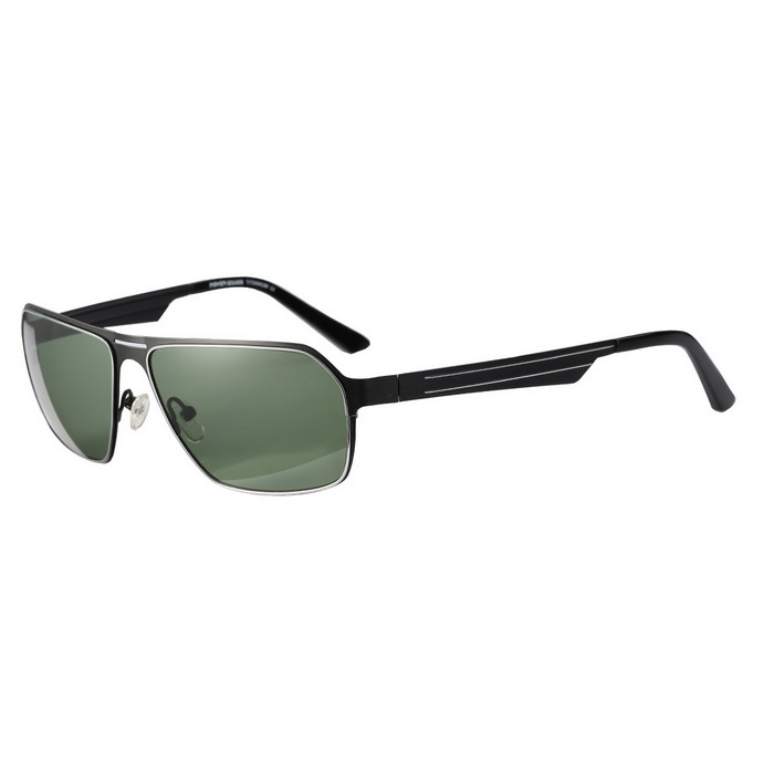 ReeDoon S792-8 Protection Polarized Sunglasses - Black + Dark Green