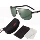 ReeDoon S896-4 Protection Polarized Sunglasses - Black + Dark Green