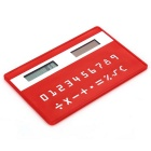 "Solar Powered 1.0"" LCD 8-Digit Ultra-Thin Pocket Card Calculator - Red"