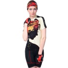 NUCKILY Women's Cycling Short-Sleeves Jersey + Short Pants Set - Black