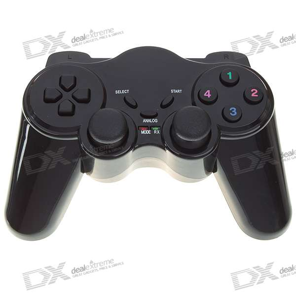 2.4GHz Wireless Dual-Shock Joypad Controller Gamepad for PC (3*AAA)