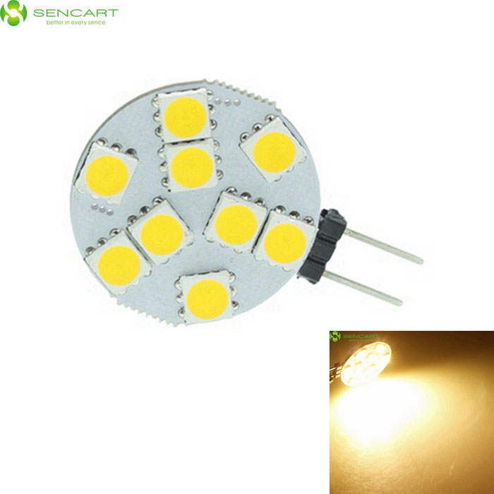 SENCARTG4 MR11 2.5W 160lm 9-5060 SMD LED Warm White Light BulbG4<br>Color BINWarm WhiteMaterialPCBForm  ColorWhite + Light YellowQuantity1 DX.PCM.Model.AttributeModel.UnitPowerOthers,2.5WRated VoltageOthers,9~36 DX.PCM.Model.AttributeModel.UnitConnector TypeG4Chip BrandEpistarEmitter Type5060 SMD LEDTotal Emitters9Theoretical Lumens360 DX.PCM.Model.AttributeModel.UnitActual Lumens140-160 DX.PCM.Model.AttributeModel.UnitColor Temperature3000KDimmableNoBeam Angle180 DX.PCM.Model.AttributeModel.UnitPacking List1 * Bulb<br>