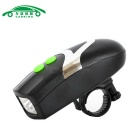Luz de bicicleta com aviso Bell 3-Mode Neutral White 3-LED Headlight Lanterna (3 * AAA)