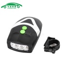 Bicycle Light with Horn / Headlight Flashlight - Black + Silver