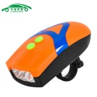 Bicycle Light with Warning Bell 3-Mode Neutral White 3-LED Headlight Flashlight (3 * AAA)
