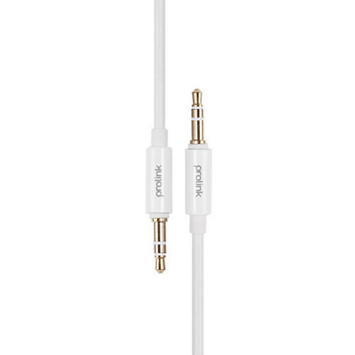 PROLINK MP146 3,5 mm macho a macho de coches AUX Audio Cable - Blanco (2m)