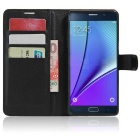 PU Magnetic Flip-Open Wallet Case w/ Strap for Samsung GALAXY Note 7